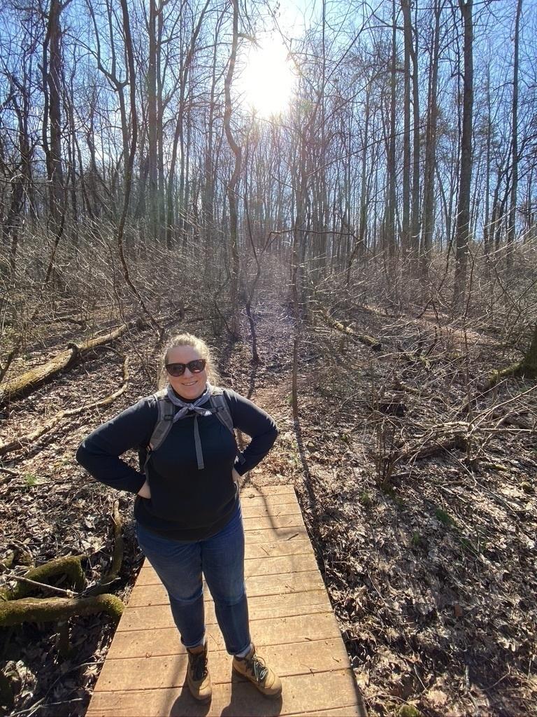 Jen in the woods