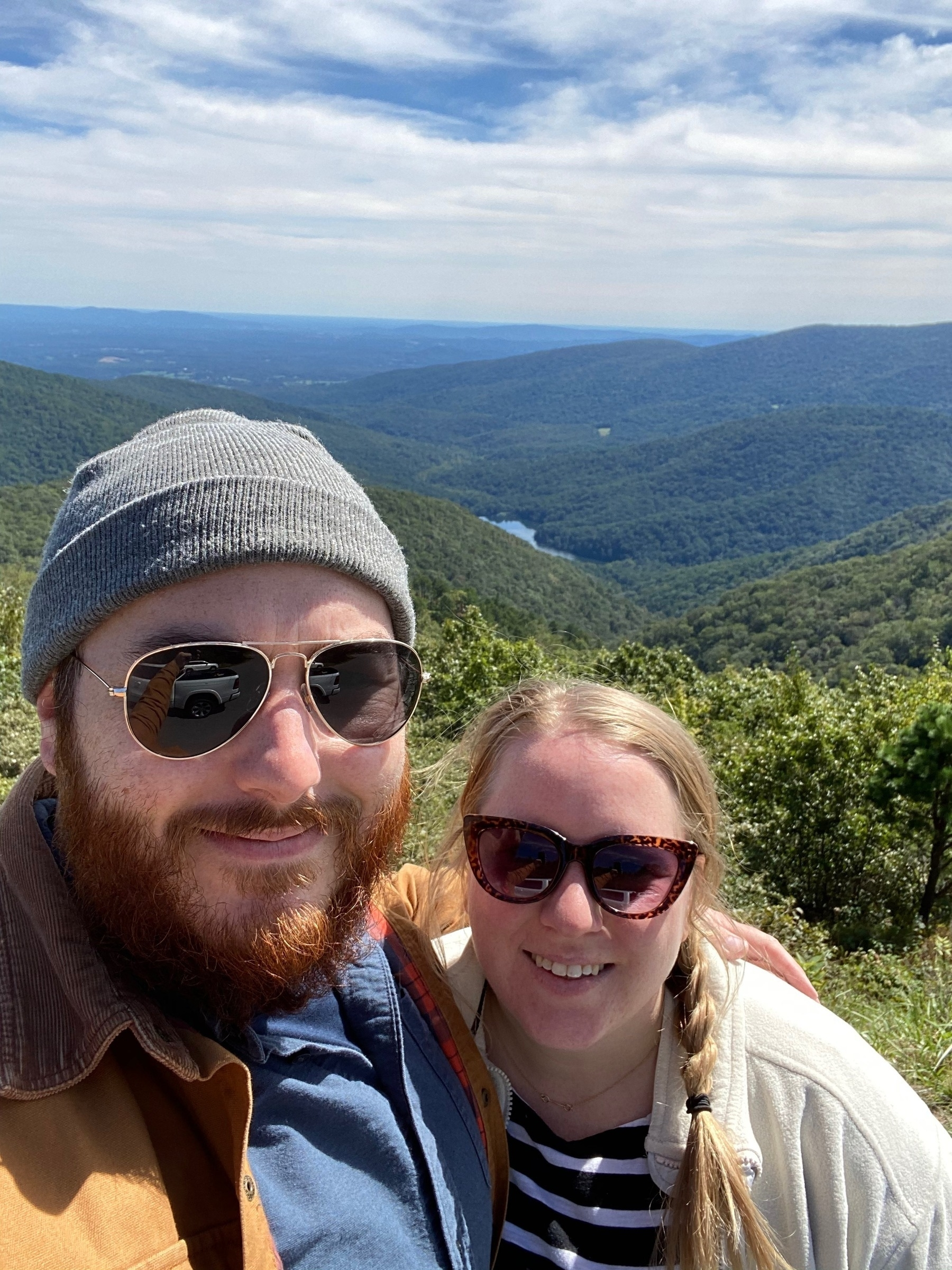 Us at the Moorman's River Overlook.
